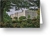 Williams Greeting Cards - Williams Hall Virginia Tech Greeting Card by Kathy Jennings