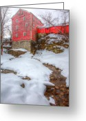 Ellicott Greeting Cards - Williams Water Mill Greeting Card by James Marvin Phelps
