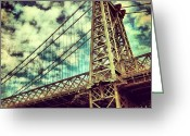 Picoftheday Greeting Cards - Williamsburg Bridge Greeting Card by Luke Kingma