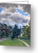 Western Massachusetts Greeting Cards - Williamstown Cloudy Greeting Card by Thor Wickstrom