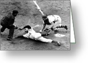 Baseball Game Greeting Cards - Willie Mays (1931- ) Greeting Card by Granger