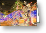 Lightpaint Greeting Cards - Willie Nelson  Greeting Card by Andrew Nourse