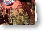 Redneck Rock Greeting Cards - Willie Nelson Michael Murphey Greeting Card by Chuck Taylor