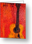 Iconic Guitars Greeting Cards - Willie Nelsons Trigger Greeting Card by Karl Haglund