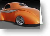Hot Rod Greeting Cards - Willys Greeting Card by Mike McGlothlen