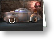 Gimp Greeting Cards - Willys Street Rod Greeting Card by Stuart Swartz
