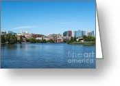 Skylines Photo Greeting Cards - Wilmington Skyline Greeting Card by John Greim