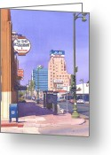 Wilshire Blvd. Greeting Cards - Wilshire Blvd at Mansfield Greeting Card by Mary Helmreich