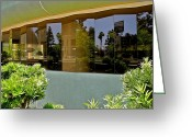 Wilshire Blvd. Greeting Cards - Wilshire Boulevard Reflections Greeting Card by Kirsten Giving