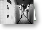 Passageways Greeting Cards - Wilsons Court One Of The Entries Oldest Streets In Belfast Northern Ireland Uk United Kingdom Greeting Card by Joe Fox