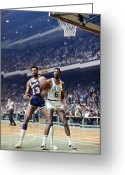 Shorts Greeting Cards - Wilt Chamberlain (1936-1999) Greeting Card by Granger