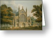 Spires Greeting Cards - Winchester Cathedral Greeting Card by John Buckler