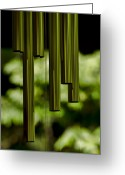 Wind Chimes Greeting Cards - Wind Chimes Greeting Card by Don Schwartz