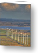 Rio Grande Greeting Cards - Wind Energy Greeting Card by by Roberto Peradotto