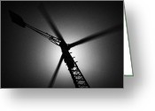 Co2 Greeting Cards - Wind Turbine Blades Spinning Greeting Card by Joe Fox