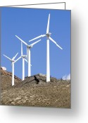 Bartolome Greeting Cards - Wind Turbines, Lanzarote Greeting Card by Mark Williamson