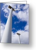 Bartolome Greeting Cards - Wind Turbines Greeting Card by Mark Williamson