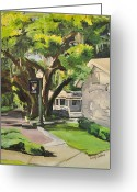 Schoolhouse Painting Greeting Cards - Windermere Police Station Greeting Card by Kimberly Beltrame