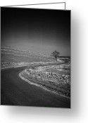 Peak One Greeting Cards - Winding B Road Through The Derbyshire Dales Peak District National Park In Derbyshire England Uk Greeting Card by Joe Fox