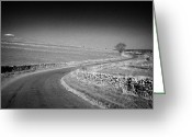 Peak One Greeting Cards - Winding B Road Through The Derbyshire Dales Peak District National Park In Derbyshire Greeting Card by Joe Fox