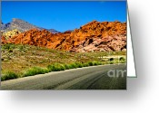 Winding Road Greeting Cards - Winding Canyon Road Greeting Card by Shutter Happens Photography