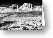 Winding Road Greeting Cards - Winding in the Desert Greeting Card by John Rizzuto