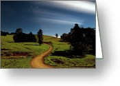 Winding Road Greeting Cards - Winding Road Greeting Card by Visionandimagination.com