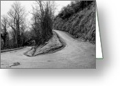 Winding Road Greeting Cards - Winding Road Greeting Card by Xamah Image