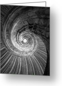 Staircase Greeting Cards - Winding staircase Greeting Card by Falko Follert