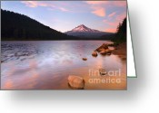 Trillium Lake Greeting Cards - Windkissed Reflection Greeting Card by Mike  Dawson