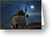 Local Greeting Cards - Windmill Against Sky Greeting Card by Ernie Watchorn