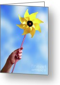 Fun Greeting Cards - Windmill Greeting Card by Carlos Caetano