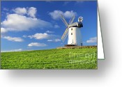 Northern Ireland Greeting Cards - Windmill Greeting Card by Drew McAvoy