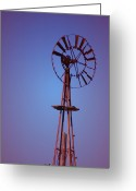 Windmill Mixed Media Greeting Cards - Windmill Greeting Card by Kellie Prowse