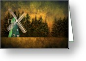 Ma Greeting Cards - Windmill on My Mind Greeting Card by Evelina Kremsdorf