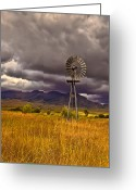 Solider Greeting Cards - Windmill Greeting Card by Robert Bales