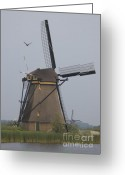 Mill Greeting Cards - Windmills at Dusk Greeting Card by Andy Smy