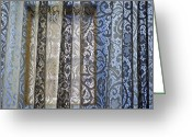Boho Greeting Cards - Window and Lace Greeting Card by Glennis Siverson