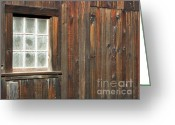 Window Panes Greeting Cards - Window At China Camp Greeting Card by Methune Hively