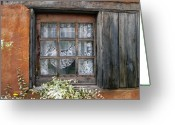 Santa Fe Digital Art Greeting Cards - Window at Old Santa Fe Greeting Card by Kurt Van Wagner