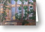 Yale Painting Greeting Cards - Window at Yale Greeting Card by Linda Smith