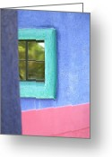 Tucson Arizona Digital Art Greeting Cards - Window Framed Greeting Card by Glennis Siverson
