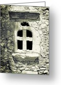 Old Wall Greeting Cards - Window Of Stone Greeting Card by Joana Kruse