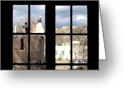Santa Fe Greeting Cards - Window Santa Fe Greeting Card by James Granberry