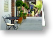 Store Fronts Greeting Cards - Window Shoppers Greeting Card by Cindy Wright