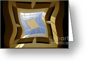 Dali Like Art Greeting Cards - Window to another Dimension Greeting Card by David Lee Thompson