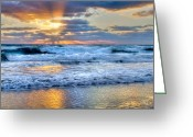 Light Aqua Greeting Cards - Window To Heaven Greeting Card by Debra and Dave Vanderlaan