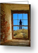 Landscape Framed Prints Greeting Cards - Window to light  Greeting Card by Christopher  Ward 