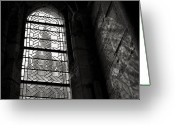 Monastery Greeting Cards - Window to Mont St Michel Greeting Card by David Bowman