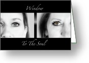 Lashes Greeting Cards - Window to the Soul Greeting Card by Steven  Michael